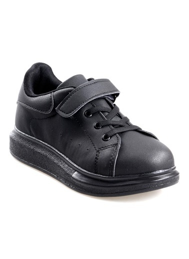 Cool Siyah Erkek-Kız Çocuk Günlük Sneaker Spor Ayakkabı Siyah